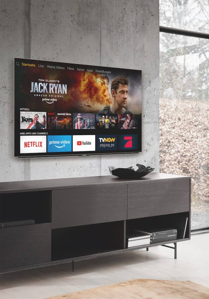 Amazon Fire TV an der Wand