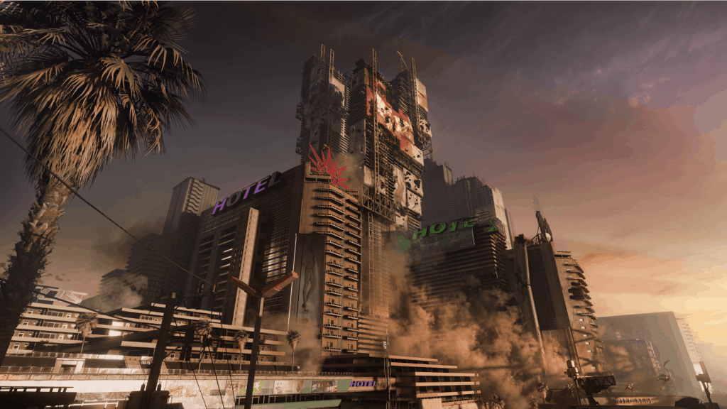 Night City aus Cyberpunk 2077 Quelle: CD Projekt RED