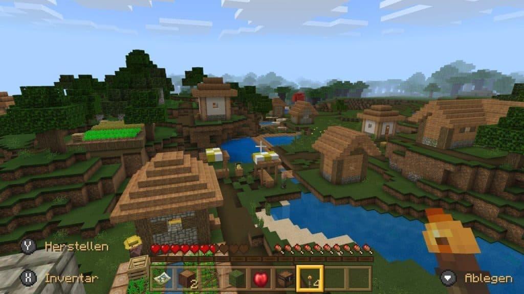 Sichtweite in Minecraft Nintendo Switch